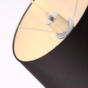 Maxlight Denver - hanglamp - Ø 40 x 140 cm - zwart en chroom
