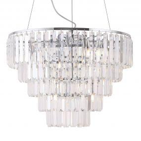 Maxlight Monaco - hanglamp - Ø 60 x 150 cm - chroom