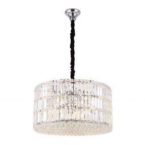 Maxlight Puccini - hanglamp - Ø 60 x 120 cm - chroom en zwart