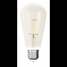 iDual LED-lamp zonder afstandsbediening - Ø 6,4 x 14 cm - E27 - 9W dimbaar - 2200K tot 6500K - transparant