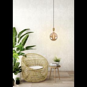 Lucide Jova - Hanglamp - Ø 12 x 4,6 x 140 cm - Mat Goud / Messing