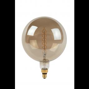 Lucide Giant LED filament lamp - Ø 25 x 34 cm - E27 - 10W - dimbaar - 2200K - gerookt