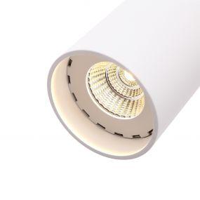 Dobac Regina Round - hanglamp - 30 x Ø 8 cm - 8W LED incl. - wit