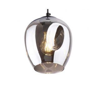 Maxlight Spirit - hanglamp - Ø 17 x 150 cm - zwart en gerookt glas