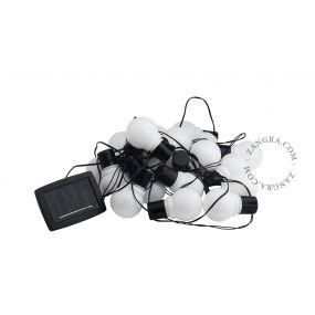 Zangra LED lichtslinger op zonne-energie - 580 cm - IP44 - 20 x witte LED lamp (einde reeks!)