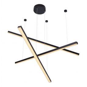 Maxlight Trio - hanglamp - 100 x 150 cm - 3 x 12W LED incl. - zwart