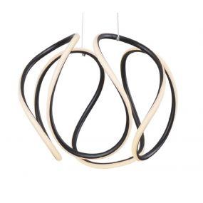 Maxlight Twist - hanglamp - Ø 40 x 120 cm - 40W LED incl. - zwart