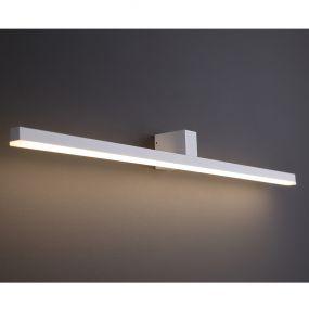 Maxlight Longbeam - spiegellamp - 90 x 7,5 x 7,5 cm - 9W LED incl. - IP54 - wit