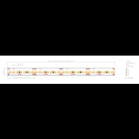KLUS LED strip - 1cm breed, 500cm lengte - 24Vdc - dimbaar - 9,1W LED per meter - IP65 - 4000K